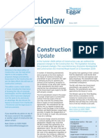 Construction Law - Thomas Eggar - Winter 2009 Newsletter