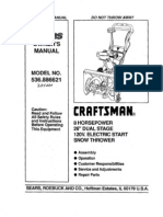 Sears Owners Manual Model No 944.529181 Craftsman 1150