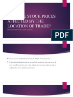 HOW ARE STOCK PRICES AFFECTED BY THE LOCATION