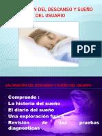 Valoración del descanso y sueño del usuario