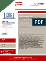 Programme Entreprises a Distance - Finance Entreprise - Cnam Idf