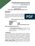 Modelo Demanda de Rescisión Por Lesión - Autor José María Pacori Cari