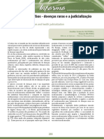 Medicamentos órfãos - doenças raras e a judicialização da saúde