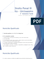 Direito Penal III - 4 semestre tarde - Homicido Qualificado