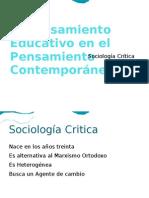 El Pensamiento Educativo en el Pensamiento Contemporáneo presentacion