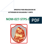 Programa Especifico Para La Realizacion de Actividades de Soldadura y Corte