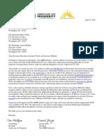 AFP LIBRE Letter on H-2B Visas