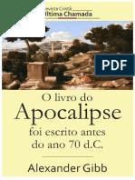 O Livro de Apocalipse foi escrito antes do ano 70DC