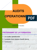 Audit Operationnel CCA 2013