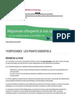 _Corticoides _ Les points essentiels