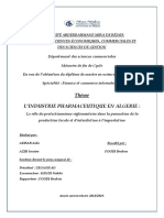 l'Industrie Pharmaceutique en Algerie