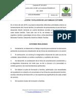 INFORME DE ACCION Y EVOLUCIÓN DE LAS FAMILIAS