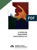 La Novela Del Exilio Espanol BAJO Azcapotzalco