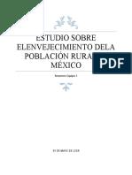 ESTUDIO SOBRE ELENVEJECIMIENTO DELA POBLACIÓN RURAL EN MÉXICO