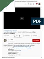 (14) Tutorial_Como Descargar E Instalar AutoCAD para pc's de bajos recursos (32-64 BITS) - YouTube