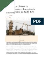 Jornales de obreros de construcción civil ago. 2015