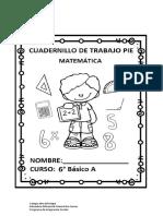 CUADERNILLO PIE MATEMATICA 2021 6A