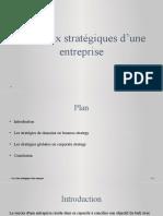 Les choix stratégiques d'une entreprise