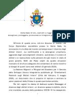 GMMR 2020 - Messaggio del Papa