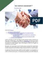 Définition juridique du Contrat Consensuel