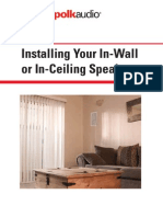 Installing Your In-Wall or In-Ceiling Speakers