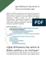 Descubra Qué Diferencia Hay Entre La Biblia Católica y La Cristiana, Aquí