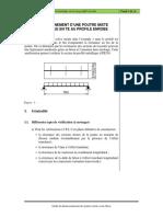 O13_Exemple_2_Poutre mixte isostatique en T au profilé enrobé