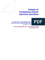List of Competency-Based Interview Questions