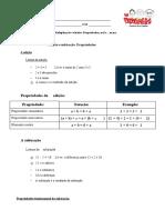 1.2 - Adição e Subtração. Propriedades - Ficha Informativa