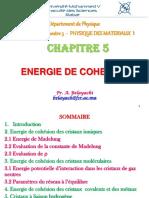 5-Cha5-Energie de Cohesion Des Solides (1)