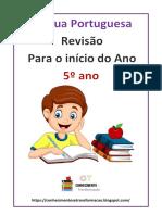 ATIVIDADE DE REVISÃO LÍNGUA PORTUGUESA  5º ANO