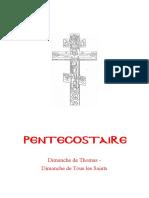 Pentecostaire Dimanches Thomas-Tous les Saints