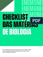Checklist-Biologia