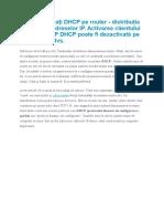 Cum să activați DHCP pe router