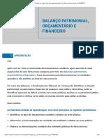 BALANÇO PATRIMONIAL ORÇAMENTARIO E FINANCEIRA