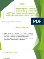Cadre d'étude (co-infection Tuberculose et VIH)