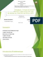 Revue de littérature et cadre conceptuel (co-infection Tuberculose et VIH)