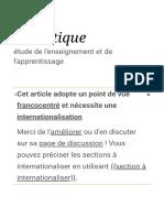 Didactique — Wikipédia