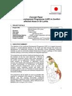 Concept papaer Livelihood Development programme  in conflict areas (2008)