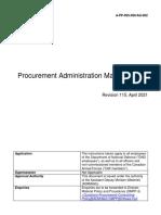 PAM procurement-administration-manual