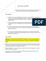 Fisheries policy - Draft 1
