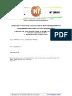Cartão Resposta Da Prova Geral - Curso de Inspetor de Equipamentos