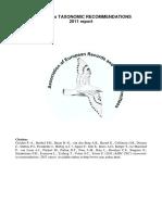 Canvis taxonòmics 2011 - 1