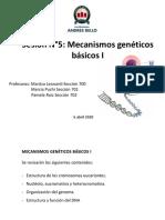 Clase 5. Mecanismos genéticos básicos I-T Med(1)