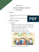PRÁCTICA N° 1 Normas de seguridad y primeros auxilios en laboratorio (1)