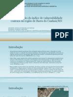 Determinação Do Índice de Vulnerabilidade Costeira Da Região