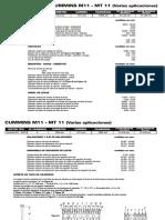 CUMMINS M11 - MT 11 (Varias Aplicaciones)