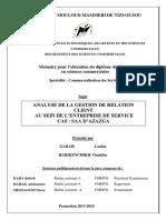 Analyse de La Gestion de Relation Client