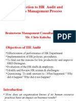 Introduction to HR Audit and Metrics Management Process