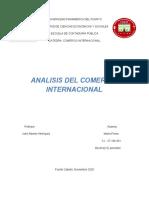 Analisis Del Comercio Internacional